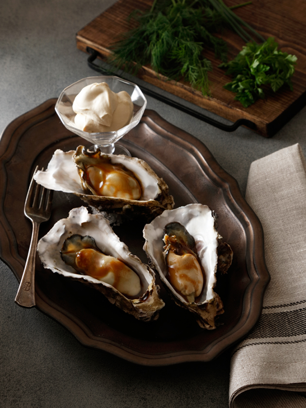 牡蠣の国産バルサミコ酢ソース